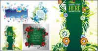 4 magnifiquement décorée matériel de vecteur pour le patron babillard