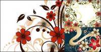 material de moda de estilo flor padrão vector