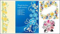 सुंदर फूल डिजाइन पैटर्न वेक्टर सामग्री