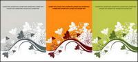 3 色のパターン ベクトル材料ファッション