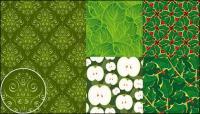 material de apoio de vector verde