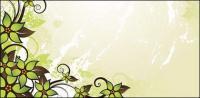 Material de vectores de moda verde hermoso patrón