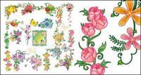 ผีเสื้อน้ำย้อยเฌอร่าดอกไม้ผลไม้เวกเตอร์วัสดุ