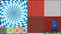 Spin reticolo vettore sfondo muro mattoni e materiale