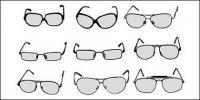 Número de vectores de material de gafas