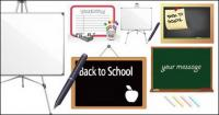 Vetor de material do Blackboard whiteboard
