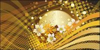 Flower background vector lines and movement of the material