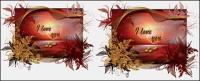 Spezielle Valentine Tag Karten-Vektor-material