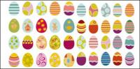 Berbagai bahan vektor telur Paskah