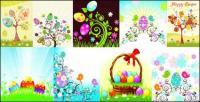 Matériau de vecteur œufs de Pâques série