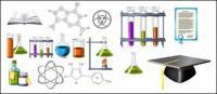 생화학 테마 아이콘 벡터 소재