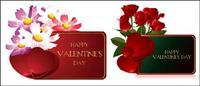 Valentine��; s jour cartes vectorielles matériel