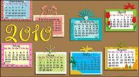 素敵な 2010年カレンダーのベクター素材