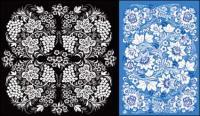 2 美しいパターン ベクトル材料