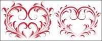 4 красивый узор, сердце образный векторного материала