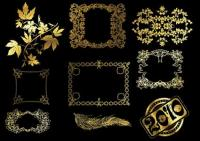 12 金レース パターン ベクトル材料