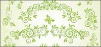 Material de vetor de padrão europeu de borboleta verde