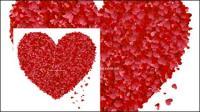 Petals ใจที่เกิดขึ้นจากวัสดุเวกเตอร์ขนาดใหญ่สีพีชหัวใจ Pursuit