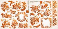 Material de vetor bela borboleta padrão de Europeia