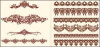 ヨーロッパ スタイルのレース パターン ベクトル材料