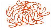 Vecteur de patron de chrysanthème