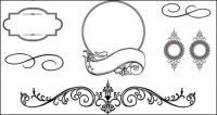 Material de vectores de patrón de estilo Europeo encaje varias