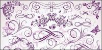 Фиолетовый штрафа узор векторного материала