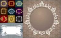 Material de vector de patrón clásico europeo