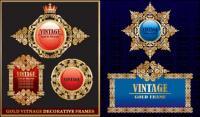 Encajes ornamentada clásica europea material de vectores