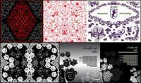 material de vector 10 hermoso patrón