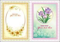 Material de rendas do vetor bela flor