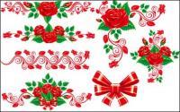 Прекрасные Розы кружева векторного материала