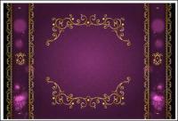 El material de vector de encaje oro clásica frontera