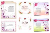 Бумага цветы, лента векторного материала