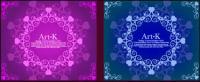 2 линии красивых кружева векторного материала