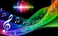 Симфония музыкального фона векторного материала