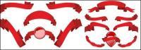 Несколько Красная лента ribbon вектор материал