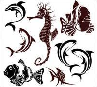 Matériau de vecteur de la vie marine