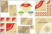 Векторные графические элементы соответствующих материальных продаж