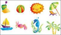 Icône de Summer beach objet vectoriel