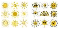 식 재 밌 태양계 물질 귀여운 벡터