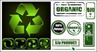 Verde assina com material de vetor de ícone de nostalgia verde