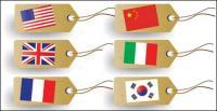Bandeira marca vector material