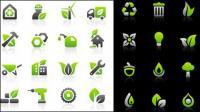 Ícone de proteção ambiental definir materiais vector