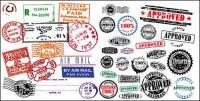 Matériau de vecteur pour le cachet de la poste timbre étranger
