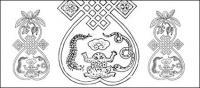 Материал 18 Китайская классическая вектор