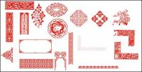 Material de vector de patrón clásico chino fino