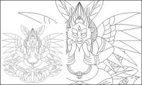 Lijiang Naxi Deus de material de vetor Big Bird