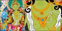 ไอ Thangka เนื้อของกฎหมาย Vajradhara เวกเตอร์ (ไม่มีเปลี่ยนสถานีโทร)
