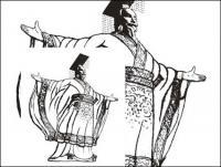 ภาพวาดลายเส้นจักรพรรดิเวกเตอร์วัสดุ
